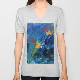 Views of Rainbow Coral, Tiny World Collection Unisex V-Neck