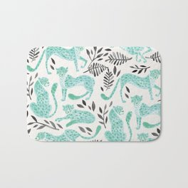 Cheetah Collection – Mint & Black Palette Bath Mat