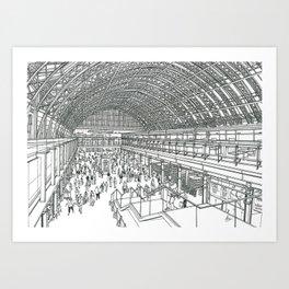St Pancras railway station Art Print