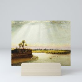 1873 Classical Masterpiece 'White Pelicans in Florida' by George Harvey Mini Art Print