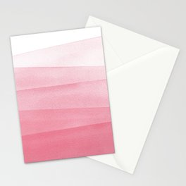 Pink Ombré Dip Dyed Watercolor Stationery Cards
