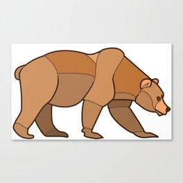 Shapely Brown Bear Canvas Print