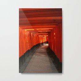 The Torri Gates of Fushimi Inari Taisha Metal Print