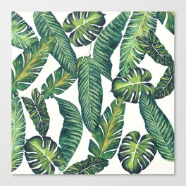 Jungle Leaves, Banana, Monstera II #society6 Canvas Print