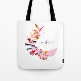 Women's accessories for beauty in watercolor Tote Bag