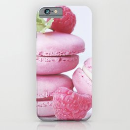macarons and raspberries #society6 #buyart #decor iPhone Case