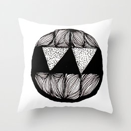 Monster With Fangs Throw Pillow