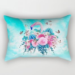 FLORAL FLAMINGO Rectangular Pillow