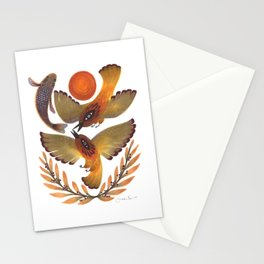 Fighting Birds Stationery Cards