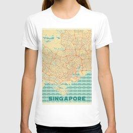 Singapore Map Retro T-shirt