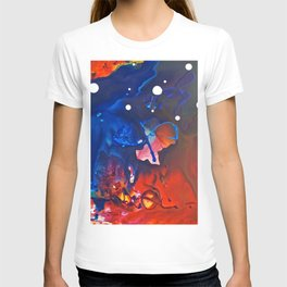 Humo, Vibrant wet on wet abstract, NYC artist T-shirt