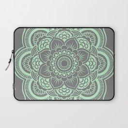 Mandala Flower Gray & Mint Laptop Sleeve