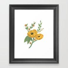 SPRING VINTAGE FLORAL Framed Art Print