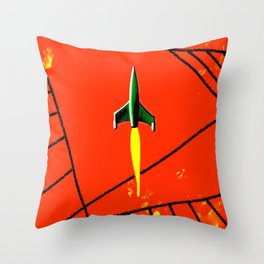 Red Planet Landing Throw Pillow