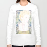 marie antoinette Long Sleeve T-shirts featuring MARIE ANTOINETTE by Itxaso Beistegui Illustrations