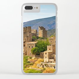 Vatheia, medieval towers village, Mani Peloponnese,Greece Clear iPhone Case