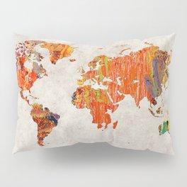 World Map 53 Pillow Sham