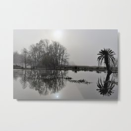 Winter on the Lake Metal Print