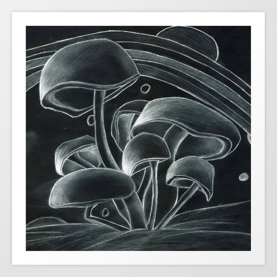 Mush to the Room Art Print