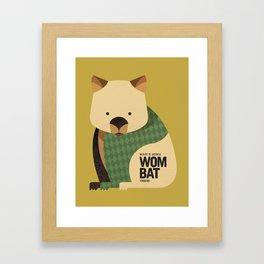 Hello Wombat Framed Art Print