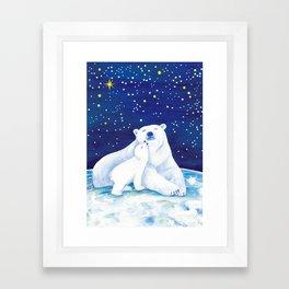 Polar bears, arctic animals Framed Art Print