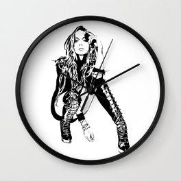 lindsay lohan illustration Wall Clock