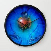 freedom Wall Clocks featuring Freedom by Walter Zettl