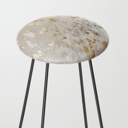 Gold Hide Print Metallic Counter Stool
