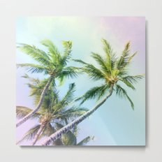 Relaxing Rainbow Color Palms Metal Print