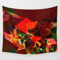 polygon Wall Tapestries featuring polygon chaos by Matthias Hennig