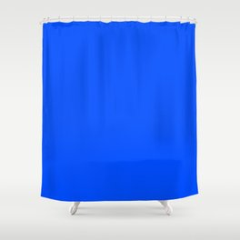 Tropical Blue Solid Color Shower Curtain