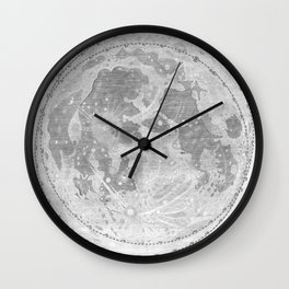 Hevelius' Selenographia - Map of the Moon 1647 Wall Clock