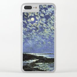 Childe Hassam - Moonlight  Isle Of Shoals Clear iPhone Case