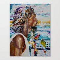 jamaica Canvas Prints featuring jamaica 1 by CarolBoerckel