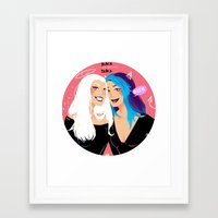 kawaii Framed Art Prints featuring kawaii by Niya Art
