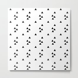 Floating triangles Metal Print