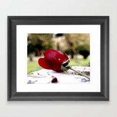 Aesthetic rose Framed Art Print