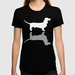 Silver Dachshund Pattern T-shirt