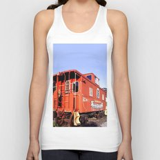 Lil Red Caboose -Wellsboro Ave Hurley ArtRave Unisex Tank Top