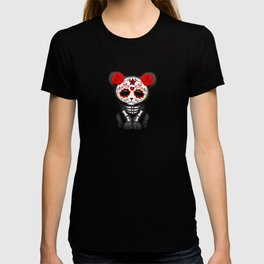 Red and Yellow Day of the Dead Sugar Skull Panther Cub T-shirt