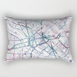 Dallas map Rectangular Pillow