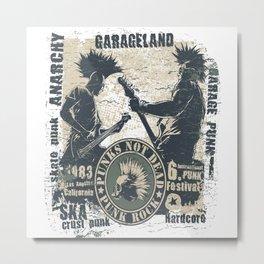 Punk Rock Metal Print