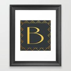 Art Deco Monogram - B Framed Art Print