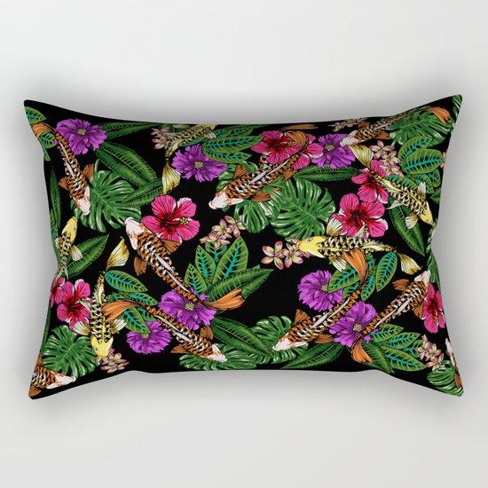 Tropical Koi Rectangular Pillow