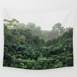 Tropical Foggy Forest Wall Tapestry