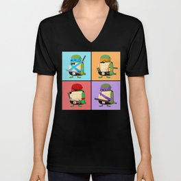 Turtles in Disguise Unisex V-Neck