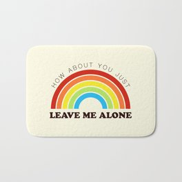 The Introvert's Plea - Classic Rainbow Bath Mat