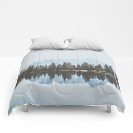 Italian Dolomites (landscape version) Comforters