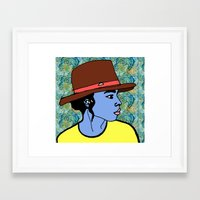 hats Framed Art Prints featuring Hats by Keith Cameron