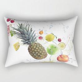 Fresh fruits and berries  with water splash Rectangular Pillow